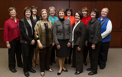 Representative group of FAAN Fellows from the IU School of Nursing