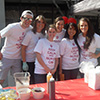 A group of students participates in a fundraising activity