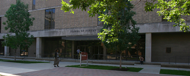 Main entrance to nursing building