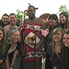 Students and faculty meet the King of Swaziland