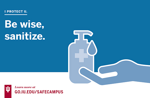 Use hand sanitizer to be safe
