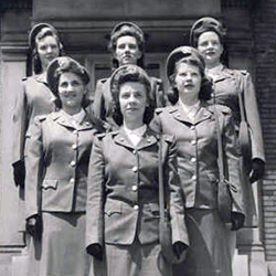 Group of  nurses in military uniforms circa 1943